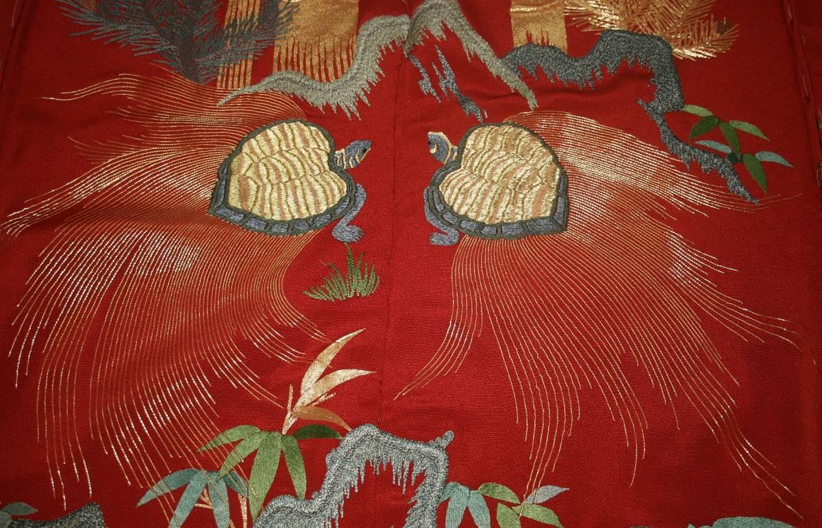 ◆一品物◆弊社工房オリジナル◆手刺繍と金駒刺繍◆お誂えお仕立て付 振袖NO.9_画像7