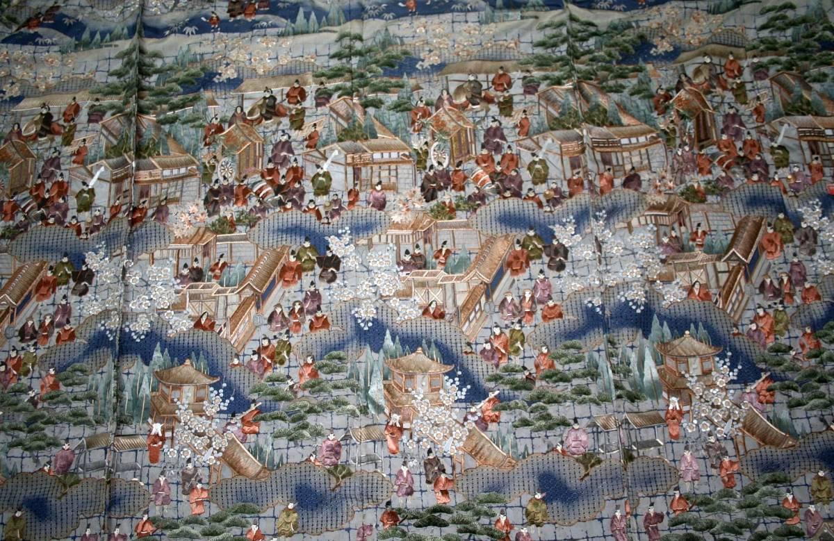 ◆高級手縫い仕立付◆ 横塚先生◆総汕頭手刺繍◆特別訪問着NO.15_画像6