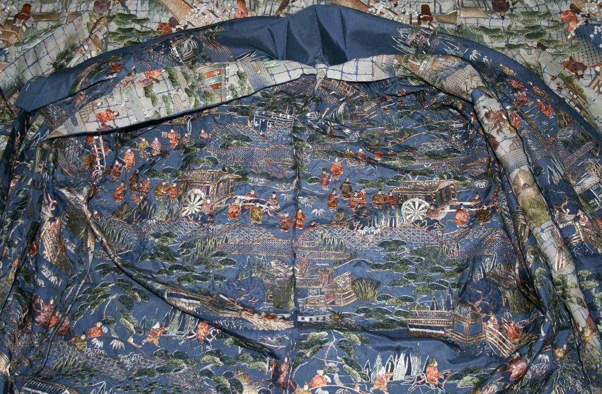◆高級手縫い仕立付◆ 横塚先生◆総汕頭手刺繍◆特別訪問着NO.15_画像5