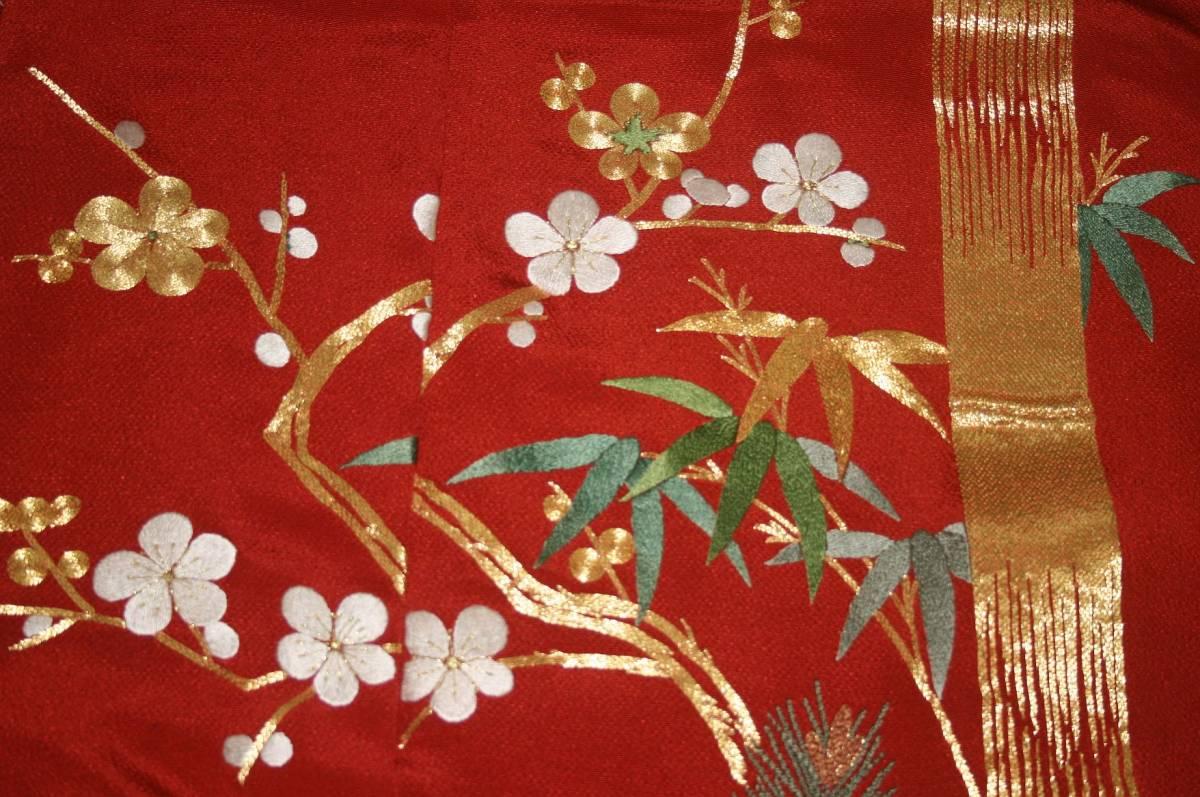 ◆一品物◆弊社工房オリジナル◆手刺繍と金駒刺繍◆お誂えお仕立て付 振袖NO.9_画像6