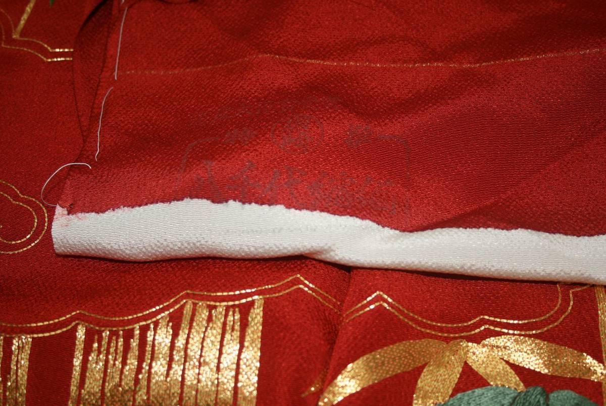 ◆一品物◆弊社工房オリジナル◆手刺繍と金駒刺繍◆お誂えお仕立て付 振袖NO.9_画像8