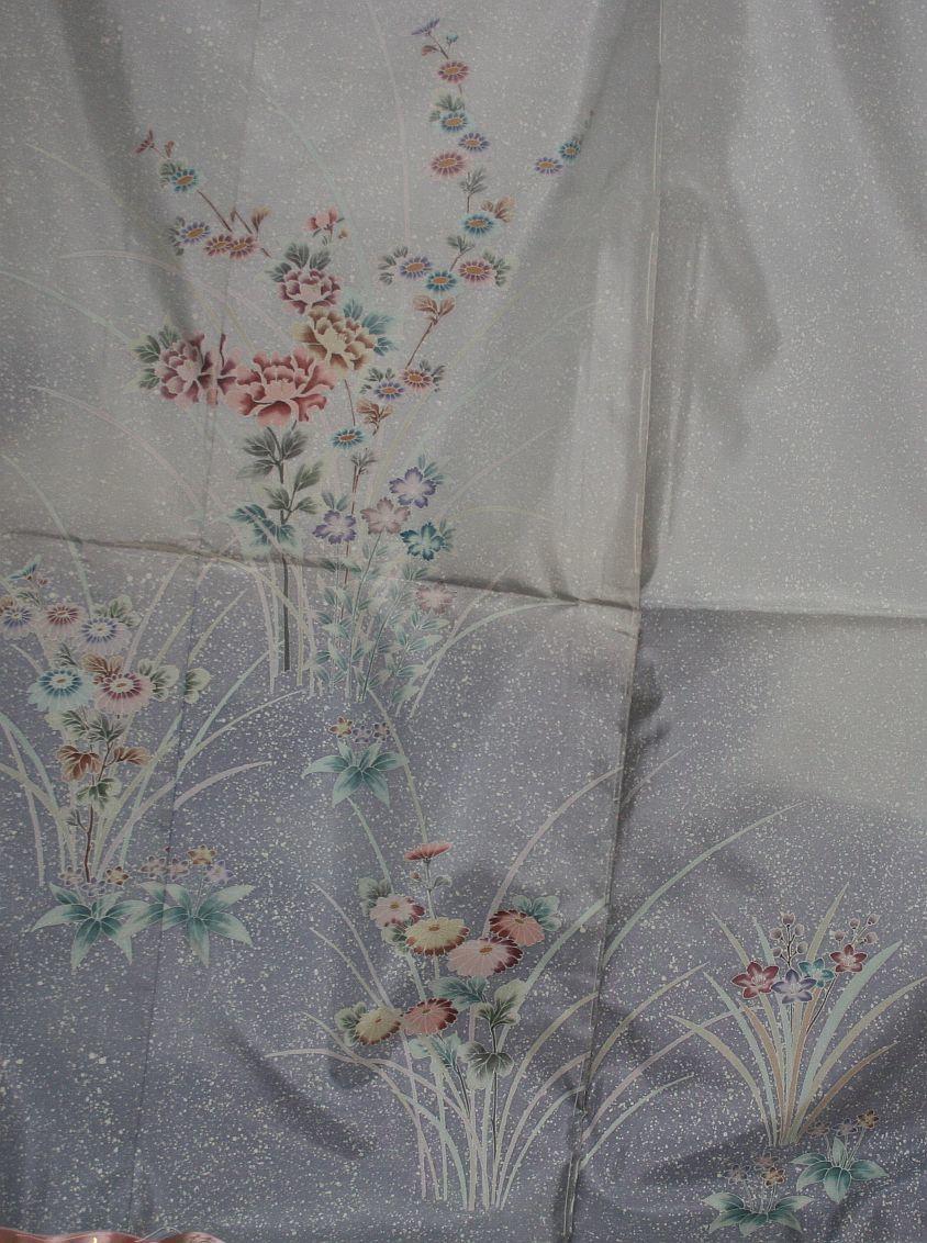 ◆高級手縫い仕立付◆本場大島証書付き◆手描きろうけつ、たたき◆訪問着NO.18_画像5