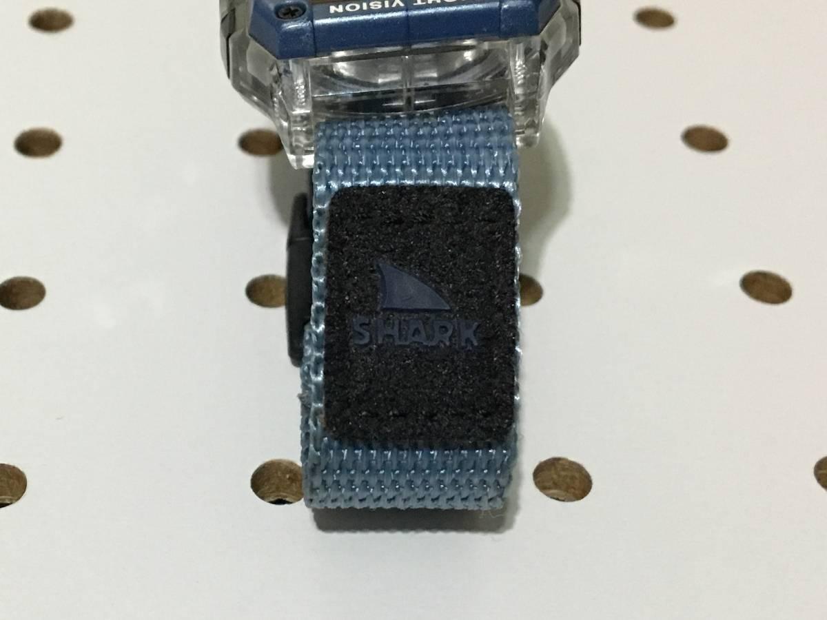 [中古 ビンテージ 90s USA]FREESTYLE SHARK NIGHTVISION (300FT) フリースタイル シャーク 腕時計 ブルー クリア_画像9
