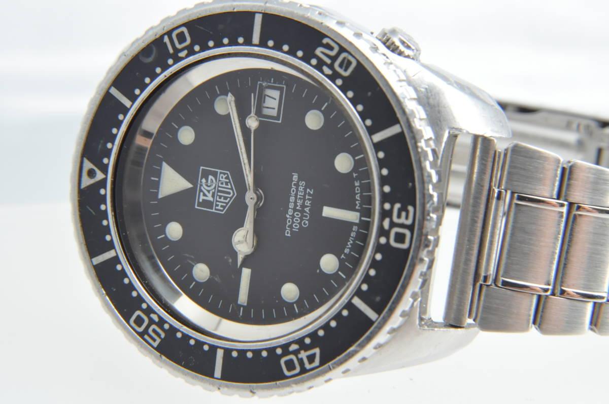 #3492 TAG HEUER 980.023N Professional 1000M QUARTZ タグホイヤー プロフェッショナル ディープダイバー Deep Diver クォーツ腕時計_画像7