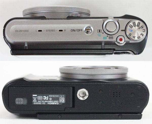 ◇ CASIO コンパクトデジタルカメラ EXILIM 10周年記念モデル EX-ZR1000BSA バッテリー2個/別売充電器付き ◇MHD6588_画像4