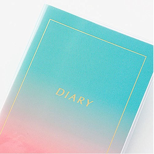 【新品】~2019年3月 HIGHTIDE 手帳/透明カバー取り外し可 トランジェンス ハイタイド イエロー ピンク ノート 2018スケジュール帳_※お届けするのは画像1のカラーです。