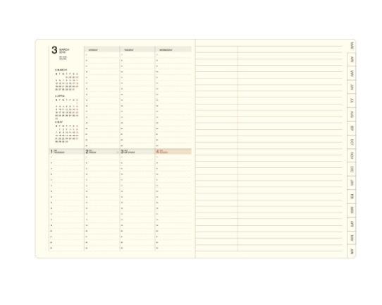 【新品/定価1944円】~2019年6月 LACONIC/バーチカル週間/カバー取り外し可 仕事計画 ポケット付き ピンク B6 ラコニック2018スケジュール帳_画像3