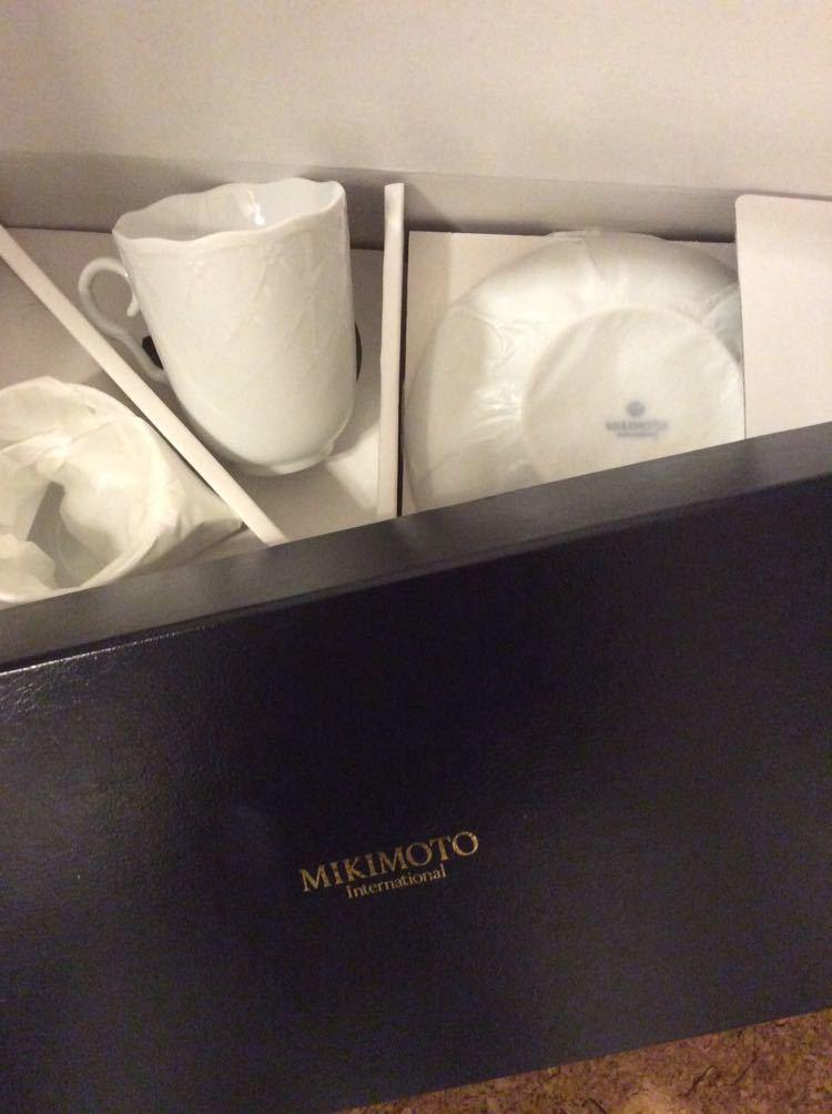 宅急便送料700円~ミキモト コーヒーカップ ジノリ 好きに ロイヤルコペンハーゲン好きにも_ミキモト 新品 未使用
