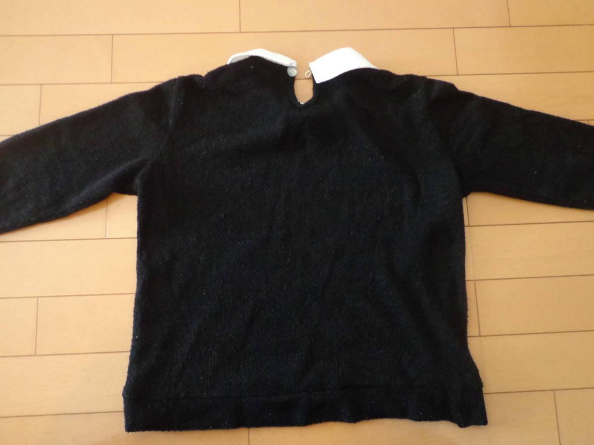 レピピアルマリオ●黒の襟付きセーター●S●150_画像3
