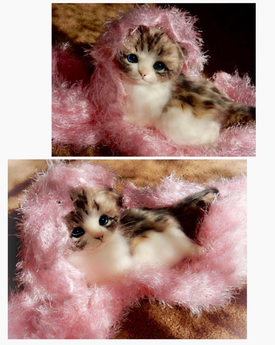 ◆sei◆ 羊毛フェルト キジトラ柄の赤ちゃん猫♪ ねこ 猫 ハンドメイド_画像8