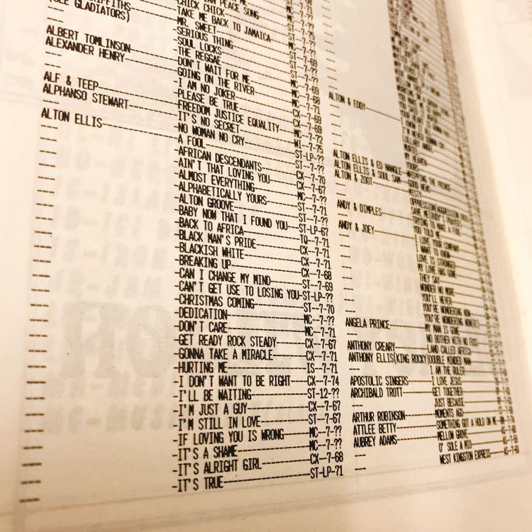 レア絶版本 Record Selector Vol.20 スタジオワン STUDIO 1 レコード・カタログ_画像4