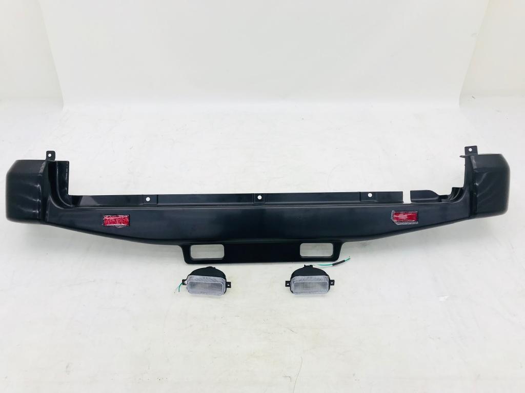 【GI★GEAR 社製】フロントバンパー(LED付) / リアバンパー (バックランプ付) ABS 未塗装品(ブラック)2台分 ジムニー JB23 /送料無料_画像10