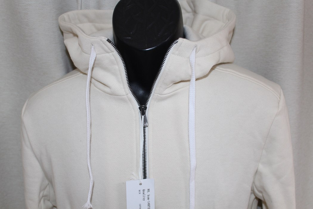 エイチワイエム hym メンズ長袖ジップアップパーカ ホワイト サイズ46 日本製 新品_画像2