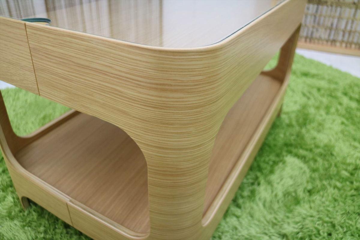 センターテーブル 幅70×奥行40×高さ40cm リビングテーブル ローテーブル ガラステーブル 家具_画像9