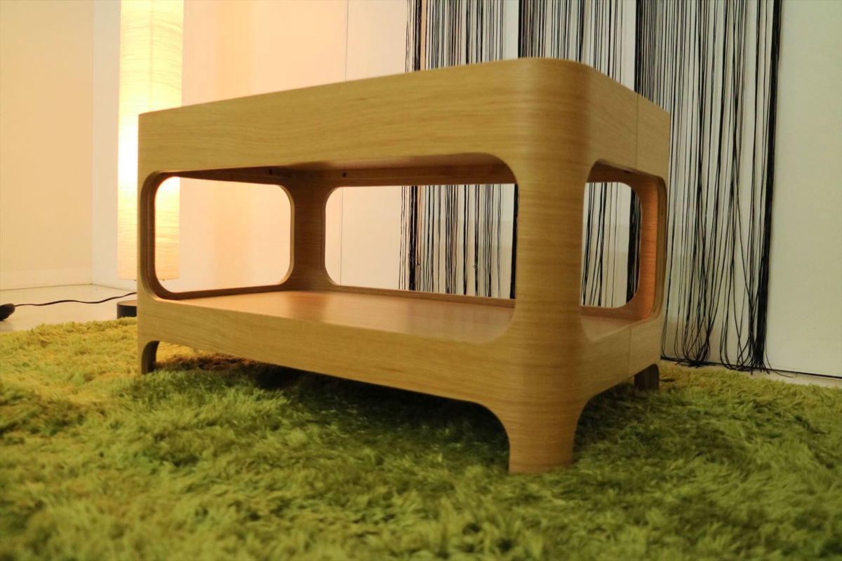 センターテーブル 幅70×奥行40×高さ40cm リビングテーブル ローテーブル ガラステーブル 家具_画像1