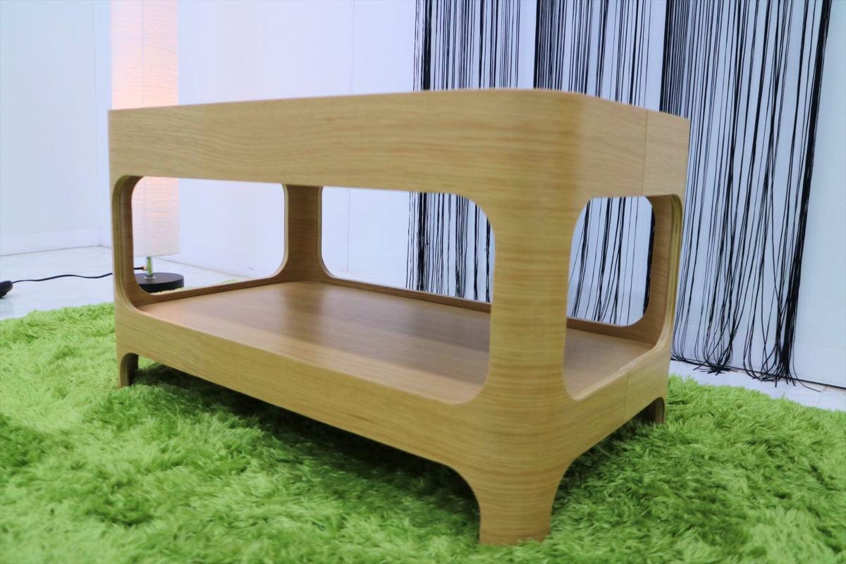 センターテーブル 幅70×奥行40×高さ40cm リビングテーブル ローテーブル ガラステーブル 家具_画像2