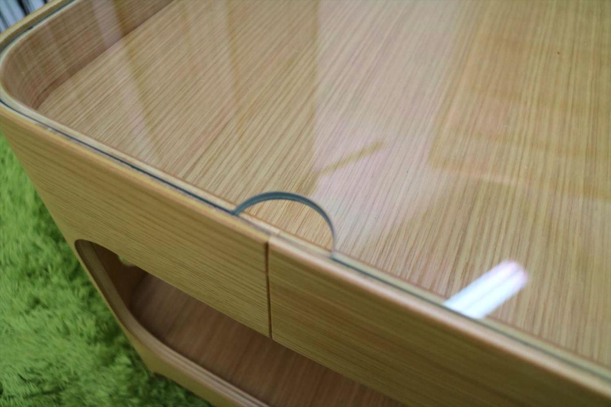 センターテーブル 幅70×奥行40×高さ40cm リビングテーブル ローテーブル ガラステーブル 家具_画像10