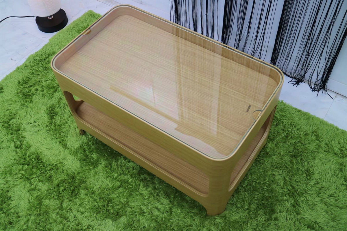 センターテーブル 幅70×奥行40×高さ40cm リビングテーブル ローテーブル ガラステーブル 家具_画像6