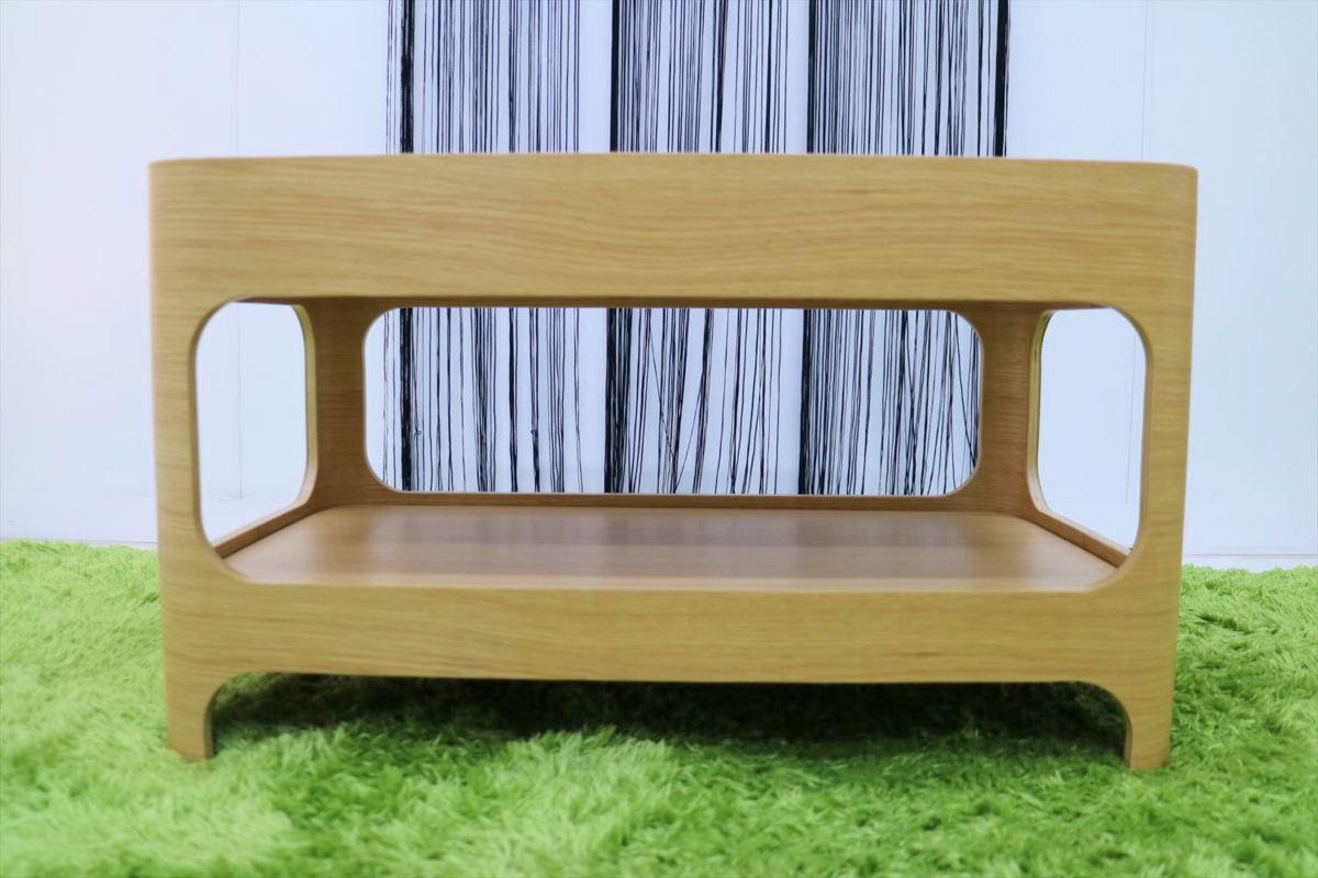 センターテーブル 幅70×奥行40×高さ40cm リビングテーブル ローテーブル ガラステーブル 家具_画像3