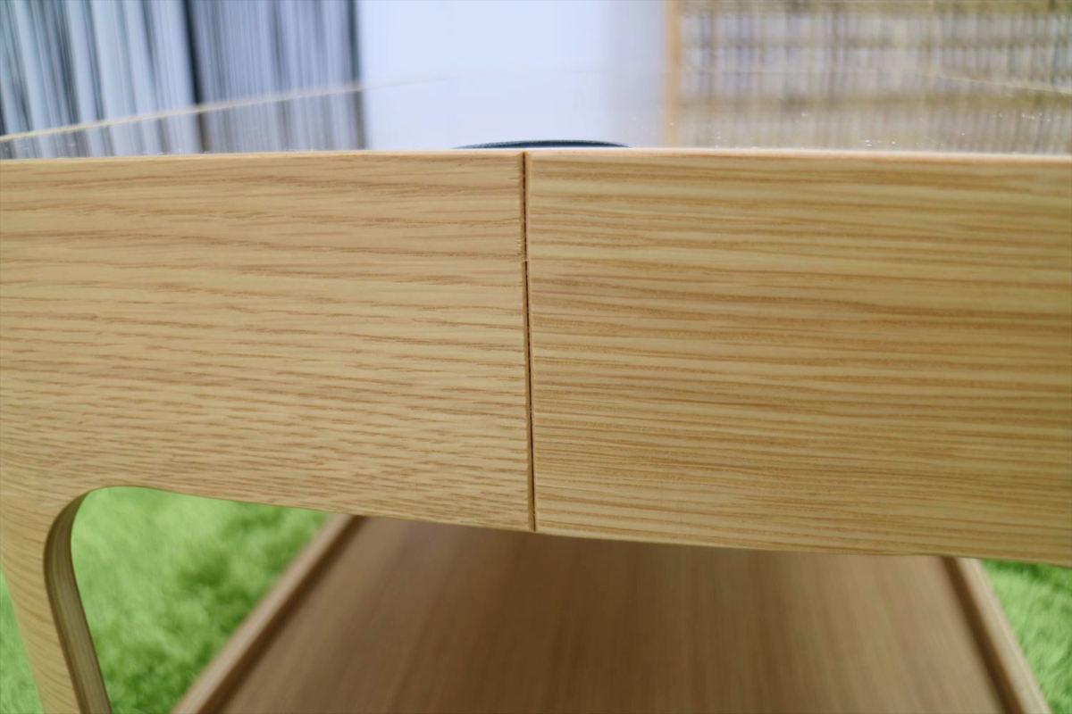センターテーブル 幅70×奥行40×高さ40cm リビングテーブル ローテーブル ガラステーブル 家具_画像8