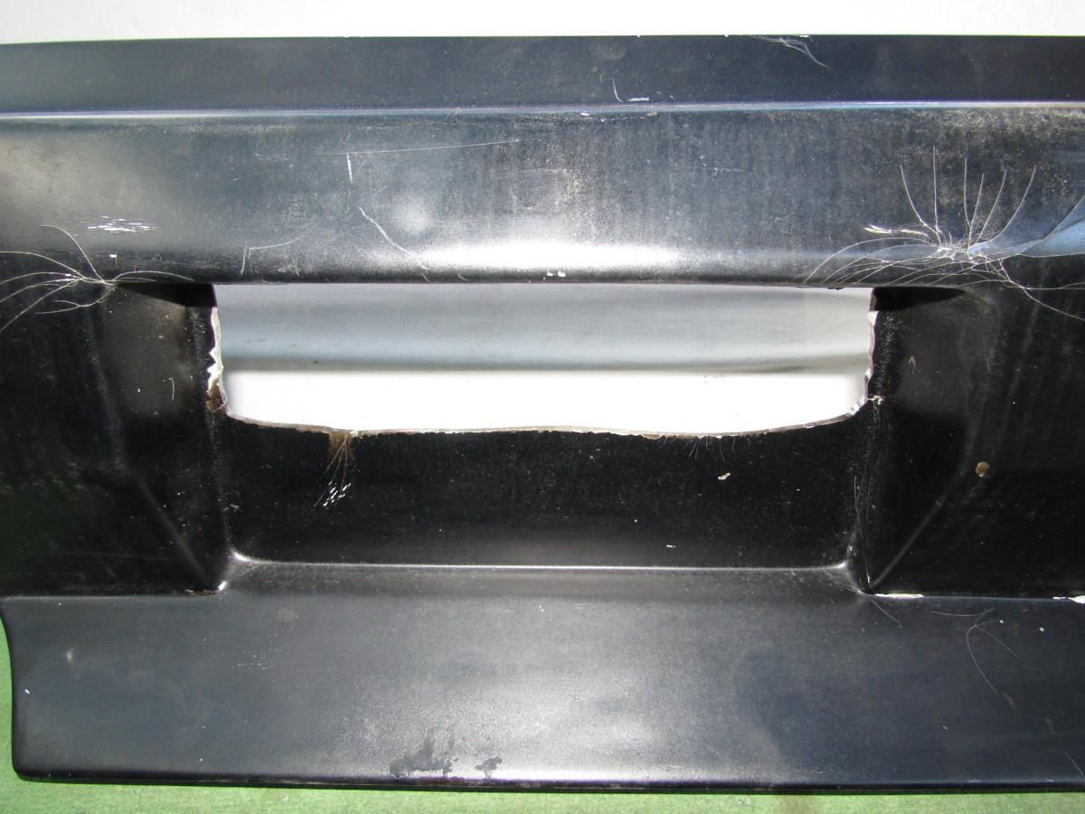 S14 シルビア メーカー不明 社外 エアロバンパー リアバンパー 張り出し オリジンタイプ? 黒色 前期 後期 補修ベースに_画像3