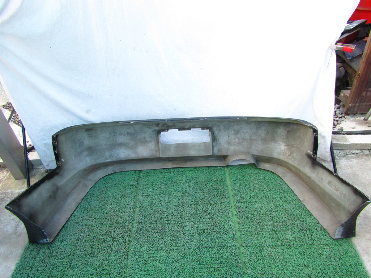 S14 シルビア メーカー不明 社外 エアロバンパー リアバンパー 張り出し オリジンタイプ? 黒色 前期 後期 補修ベースに_画像2