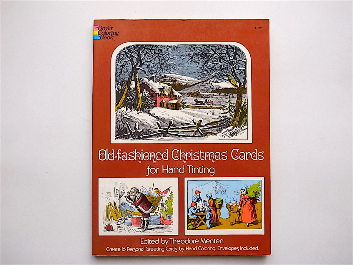1902 Old Fashioned Christmas Cards for Hand Tinting (T. Menten,Dover Pubns,1979)クリスマスカードブック_画像1