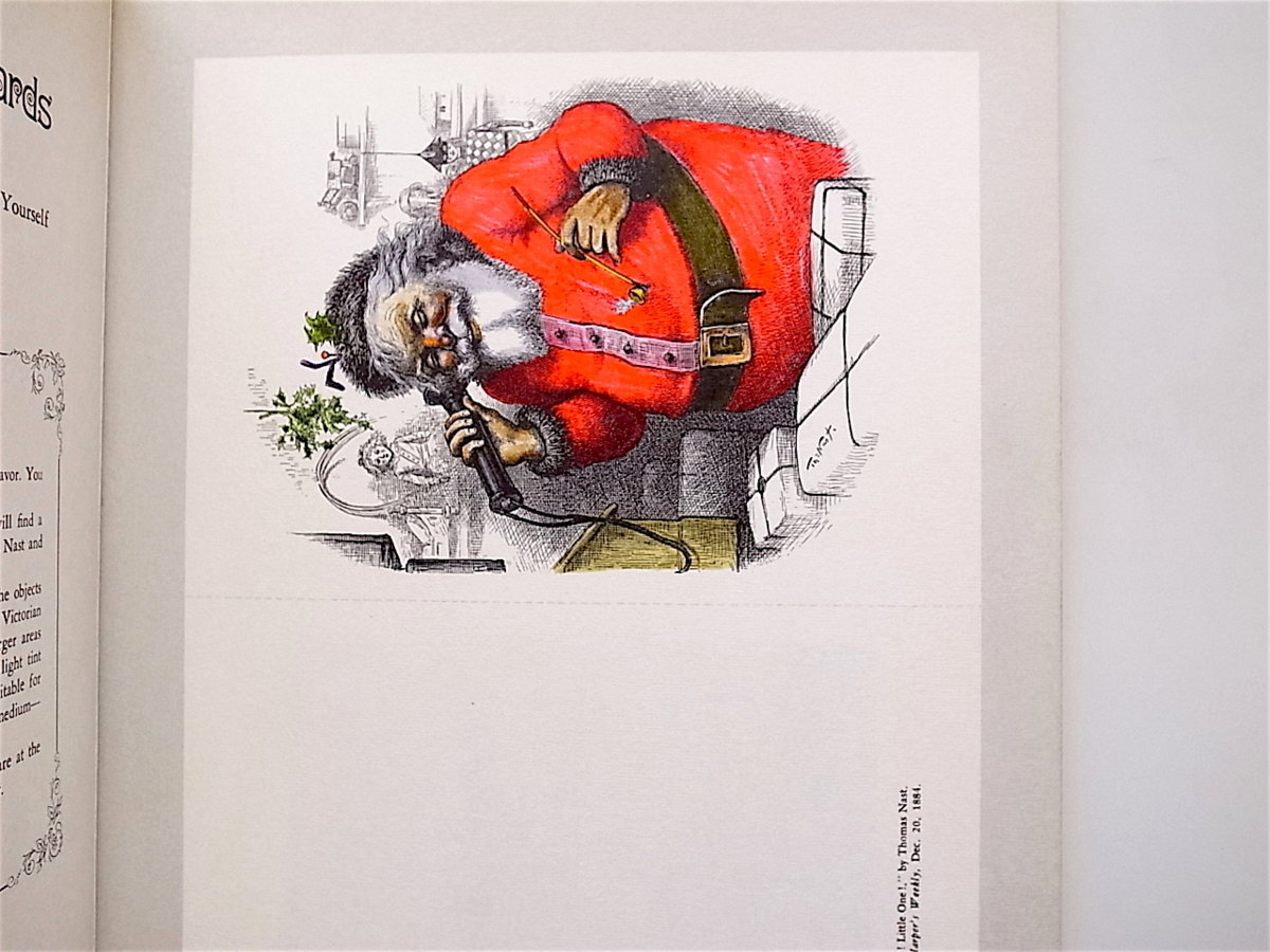 1902 Old Fashioned Christmas Cards for Hand Tinting (T. Menten,Dover Pubns,1979)クリスマスカードブック_画像2