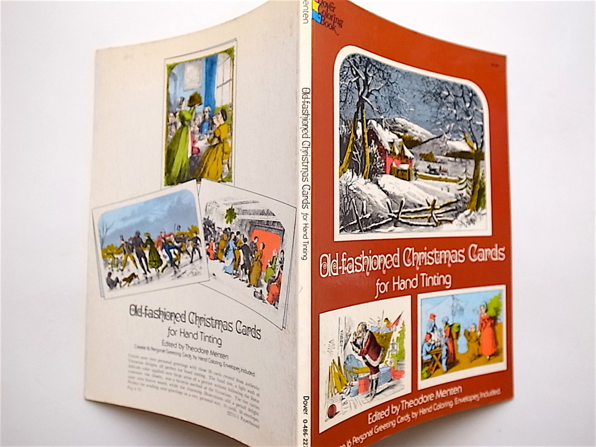 1902 Old Fashioned Christmas Cards for Hand Tinting (T. Menten,Dover Pubns,1979)クリスマスカードブック_画像3