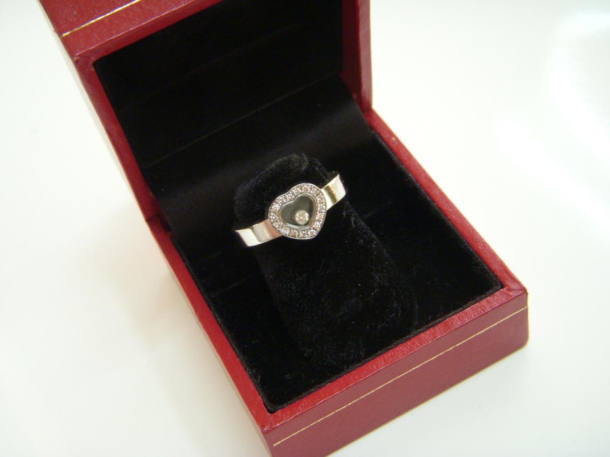 ★とちぎ屋!【Chopard】ハッピーダイヤモンド アイコンリング ハートタイプ サイズ9号(50、J1/2、5)ダンシングダイヤ!★_画像1