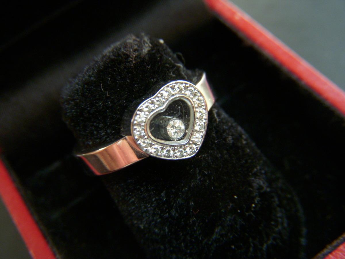 ★とちぎ屋!【Chopard】ハッピーダイヤモンド アイコンリング ハートタイプ サイズ9号(50、J1/2、5)ダンシングダイヤ!★_画像4
