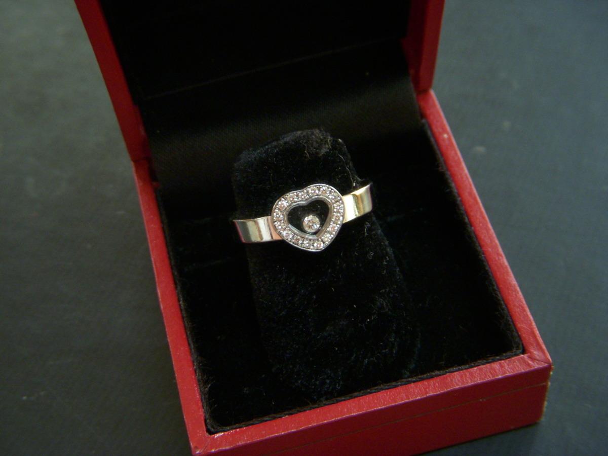 ★とちぎ屋!【Chopard】ハッピーダイヤモンド アイコンリング ハートタイプ サイズ9号(50、J1/2、5)ダンシングダイヤ!★_画像2
