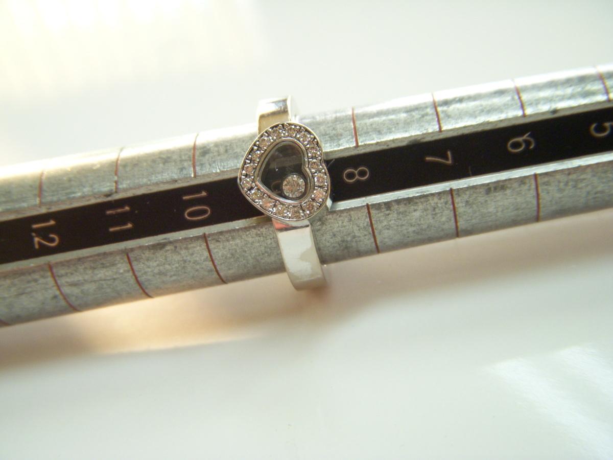 ★とちぎ屋!【Chopard】ハッピーダイヤモンド アイコンリング ハートタイプ サイズ9号(50、J1/2、5)ダンシングダイヤ!★_画像10