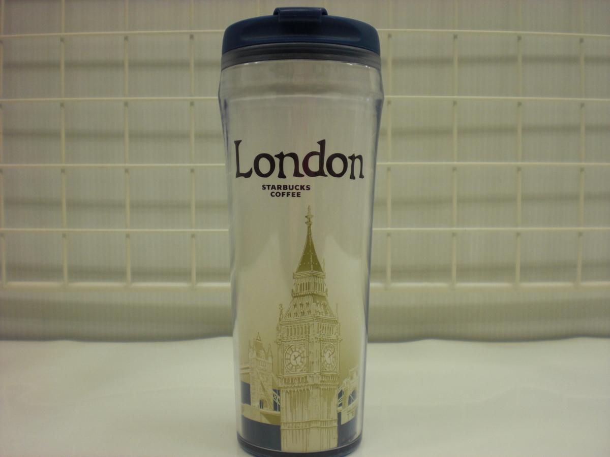 ○スタバ タンブラー 海外 ロンドン London ビッグ・ベン Big Ben 青 12oz 35L ご当地 限定 スターバックス 新品 未使用品_画像1