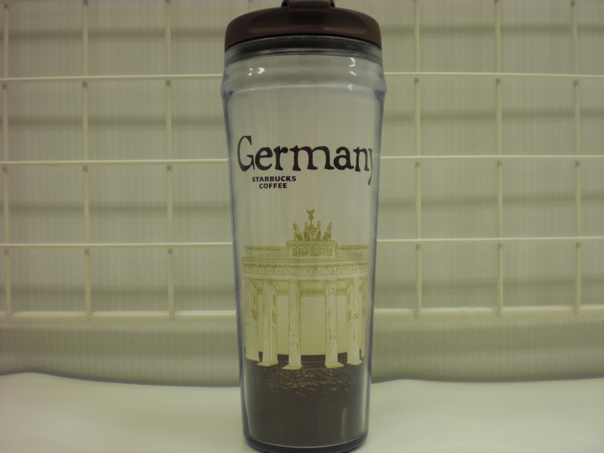 ○スタバ タンブラー 海外 ドイツ Germany Deutschland 12oz 35L 茶 2009 ご当地 限定 スターバックス 新品 未使用品_画像1