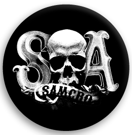 Sons Of Anarchy (サンズ オブ アナーキー) SOA SKULL BUTTON 缶バッジ (ピンタイプ)☆_画像1
