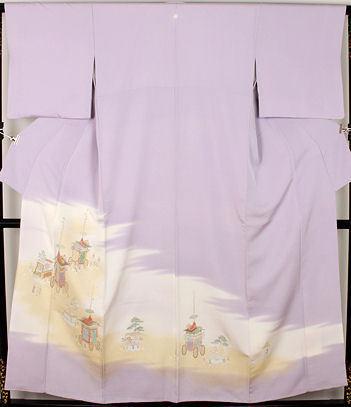 【送料無料】色留袖★正絹★寿光織 祇園祭 山鉾巡業 ki22498【美品】_画像1