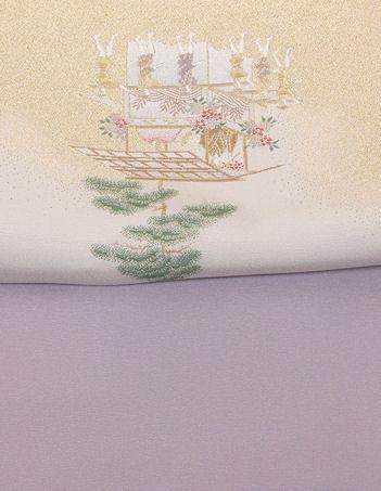 【送料無料】色留袖★正絹★寿光織 祇園祭 山鉾巡業 ki22498【美品】_画像7