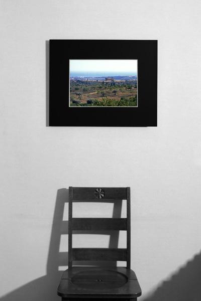 ■イタリア アグリジェント 神殿の谷 世界遺産★額縁付 A4サイズ_    居間イメージ A3サイズ