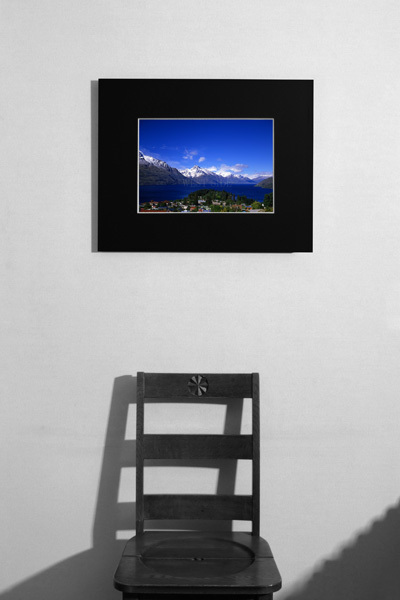 ニュージーランド クイーンズタウン ワカティブ湖 ★額縁付 A3_        居間イメージ A3サイズ