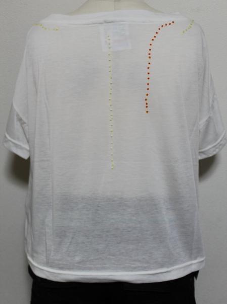 スワンジー SWANZY レディース半袖Tシャツ ホワイト 新品_画像3