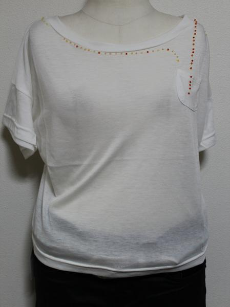 スワンジー SWANZY レディース半袖Tシャツ ホワイト 新品_画像1