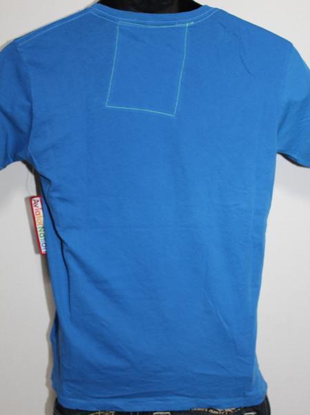 アビエーターネイション Aviator Nation メンズ半袖Tシャツ ブルー Sサイズ 新品_画像3