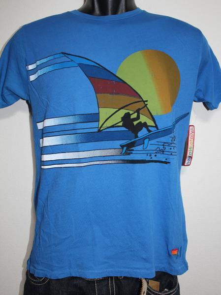 アビエーターネイション Aviator Nation メンズ半袖Tシャツ ブルー Sサイズ 新品_画像1