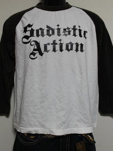 サディスティックアクション SADISTIC ACTION メンズ長袖Tシャツ Lサイズ NO22 新品_画像1