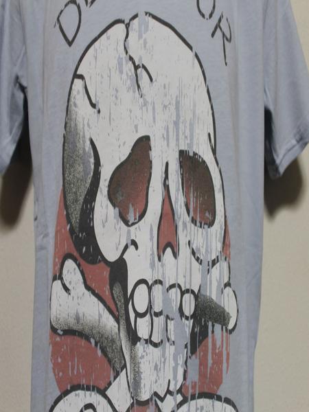 エドハーディー ED HARDY メンズ半袖Tシャツ ブルー Mサイズ UR019 新品 DEATH OR GLORY_画像2