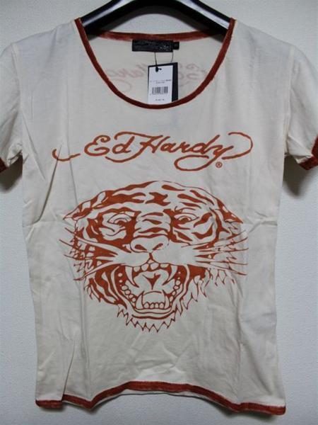 エドハーディー ED HARDY レディース半袖Tシャツ Mサイズ PR091 新品 TIGER_画像1