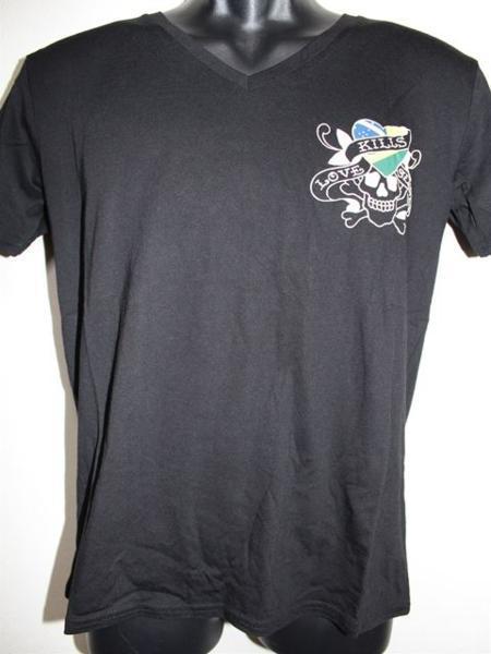エドハーディー ED HARDY メンズ半袖Tシャツ Sサイズ ブラック VB052 新品_画像1