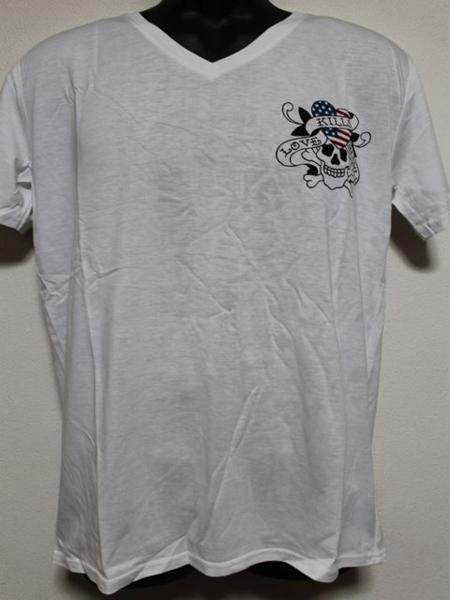 エドハーディー ED HARDY メンズ半袖Tシャツ Lサイズ ホワイト US052 新品_画像1