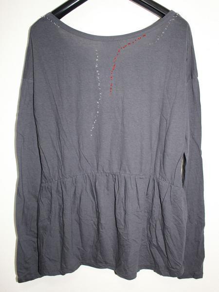 スワンジー SWANZY レディース長袖Tシャツ チュニック ブラック 新品 SW-12T-02_画像2